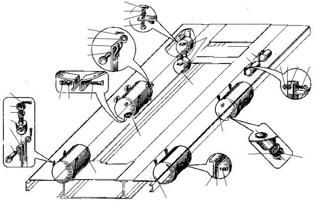 Установка воздушных резервуаров